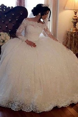Natural Waist Floor Length Jewel Accented Long Enchanting Embroidery Wedding Dress