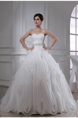 Organza Sweetheart Beading Ball Gown Sleeveless Wedding Dress