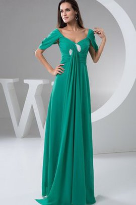 Criss-Cross Pleated Draped Chiffon Evening Dress
