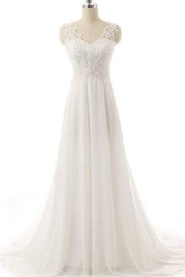A-Line Floor Length Winsome Hourglass Church Sweep Train Chic & Modern Wedding Dress