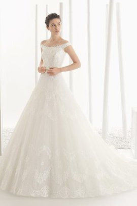 Hall Romantic Beading Pear Off The Shoulder Wedding Dress
