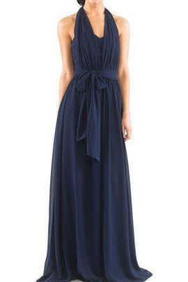 Simple Sashes Sweep Train Long Elegant & Luxurious Bridesmaid Dress
