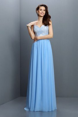 Zipper Up Princess Long Empire Waist Wide Straps Bridesmaid Dress