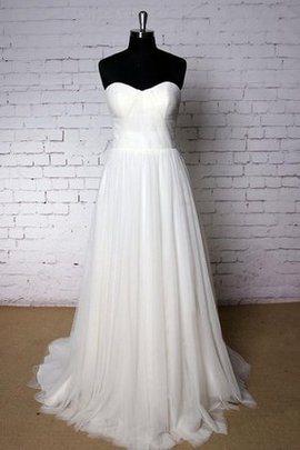 Court Train Sweetheart Ruched A-Line Sleeveless Wedding Dress