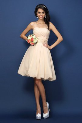 Short Chiffon Natural Waist A-Line Bridesmaid Dress