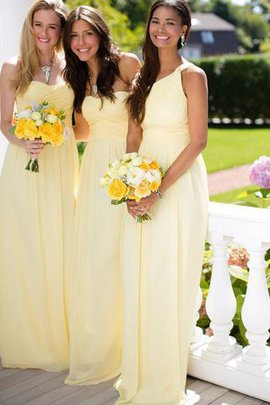 Floor Length Natural Waist Chiffon Princess Sleeveless Bridesmaid Dress