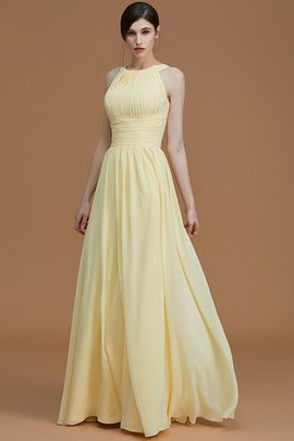 Sleeveless Halter Floor Length Ruched Zipper Up Bridesmaid Dress