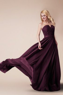 Zipper Up Strapless Pleated Chiffon Notched Bridesmaid Dress