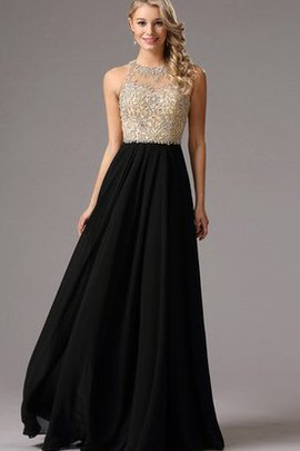 High Neck Sweep Train Empire Waist Sleeveless Beading Evening Dress