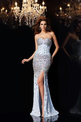 Mermaid Empire Waist Sweetheart Sleeveless Sweep Train Evening Dress