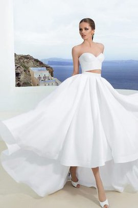 Informal & Casual Misses Pleated Sleeveless Long Wedding Dress