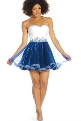 Sleeveless Tulle Strapless Informal & Casual A-Line Party Dress
