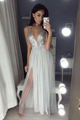 Angelic A-Line Backless Floor Length Chiffon Ruched Sleeveless Prom Dress