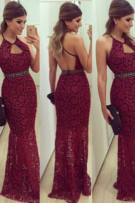 Empire Waist Sleeveless Beading Floor Length Sheath Evening Dress