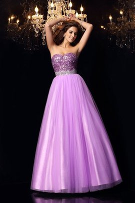 Elastic Woven Satin Ball Gown Zipper Up Floor Length Sequins Quinceanera Dress