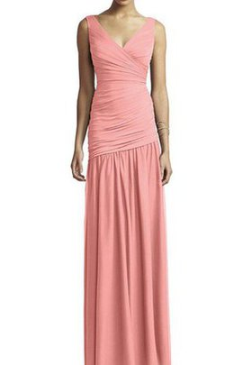Floor Length Ruched Chiffon A-Line Bridesmaid Dress