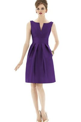 Sleeveless Ruched Knee Length Bridesmaid Dress