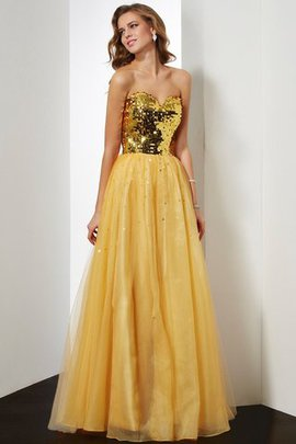 Empire Waist Sequins Sequined Ball Gown Organza Evening Dress