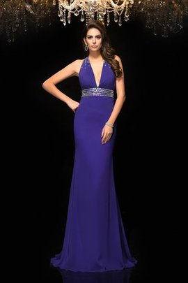 Empire Waist Long Mermaid Chiffon Beading Prom Dress