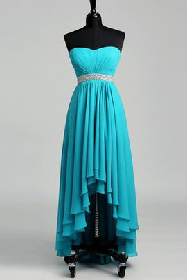 Simple Zipper Up Chiffon A-Line Pleated Prom Dress
