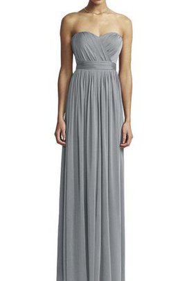 Strapless A-Line Floor Length Ruched Bridesmaid Dress