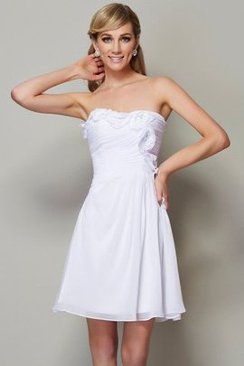 A-Line Natural Waist Short Strapless Bridesmaid Dress