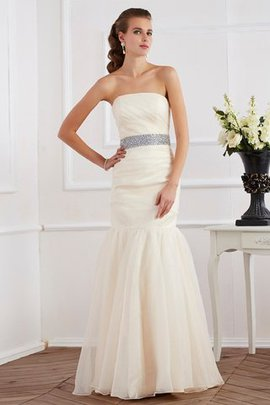 Sleeveless Organza Zipper Up Natural Waist Evening Dress