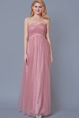 Pleated Zipper Up Romantic Ruched Tulle Bridesmaid Dress