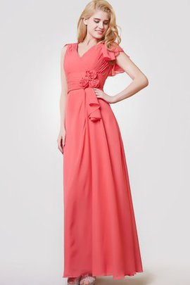 Short Sleeves Elegant & Luxurious Capped Sleeves Pleated Zipper Up Bridesmaid Dress