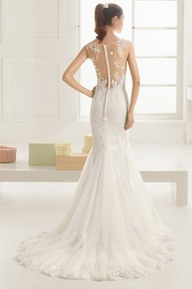 Appliques Sweep Train Draped Elegant & Luxurious Wedding Dress