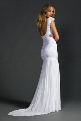 Ruffles Elegant & Luxurious Sexy Floor Length V-Neck Wedding Dress