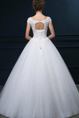 Natural Waist Sequins A-Line Sleeveless Wedding Dress