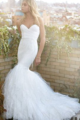 Lace Natural Waist Sweetheart Sleeveless Wedding Dress