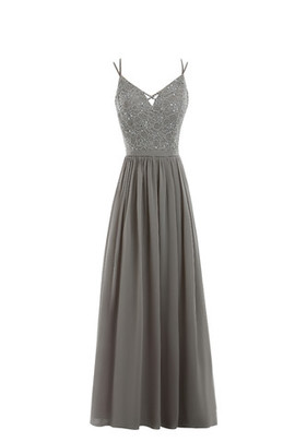Simple Zipper Up Jewel Accented Princess Formal Evening Dress