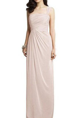 Chiffon A-Line Ruched One Shoulder Floor Length Bridesmaid Dress