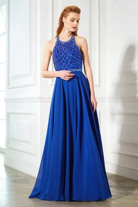 Sweep Train Sleeveless Backless Beading Jewel Evening Dress