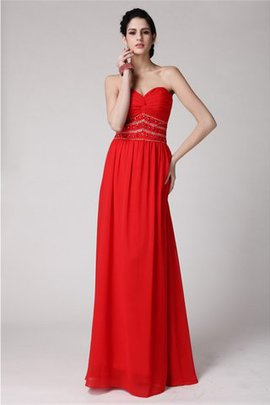 Natural Waist Sheath Sleeveless Chiffon Beading Prom Dress