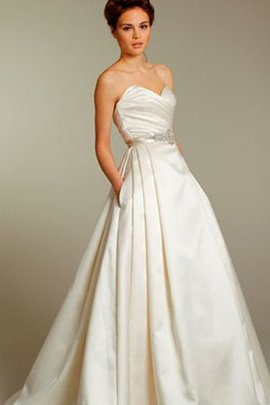 Sexy Sweep Train Backless Sweetheart Draped Wedding Dress