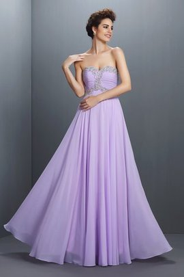 A-Line Sleeveless Long Natural Waist Floor Length Prom Dress