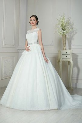 Pleated Lace Fabric Beach A-Line Zipper Up Wedding Dress