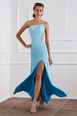 Chiffon Floor Length Beading Princess Sleeveless Prom Dress