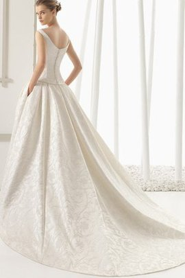 Rectangle Bow Chiffon Scoop Chic & Modern Wedding Dress