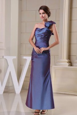 Spaghetti Straps Ruched Sleeveless Ankle Length Evening Dress