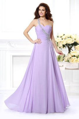 Zipper Up Floor Length Long Beading Natural Waist Prom Dress