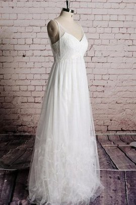 Floor Length Ruffles Sleeveless A-Line Pleated Wedding Dress