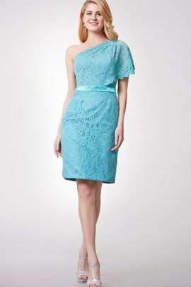 Lace Sashes Elegant & Luxurious Sheath One Shoulder Cocktail Dress