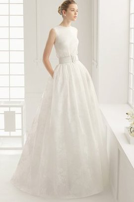 Long Outdoor Hourglass Floor Length Jewel Wedding Dress