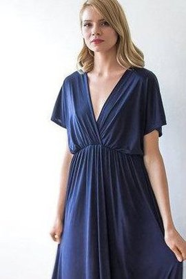 Ruched A-Line Chic & Modern Simple Bridesmaid Dress