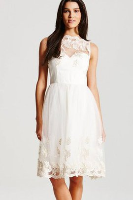 High Neck Knee Length Lace Spaghetti Straps Party Dress