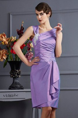 Knee Length Appliques Sheath Sleeveless Bridesmaid Dress